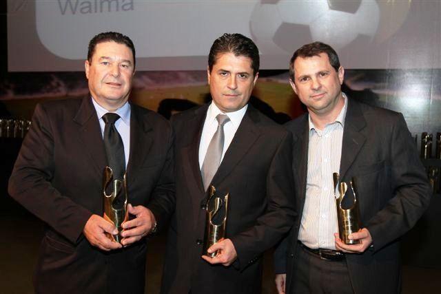 Srs. Paulo Franco (ICASA), Neylor Brito (Deca) e Alexandre Junqueira (Roca Brasil).