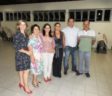 As acionistas Kátia e Maria Teixeira, as palestrantes Mônica e Sílvia Helena e os colaboradores Antonio (CIPA) e Juarez (SESMT)